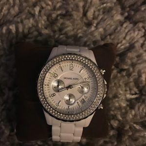 white Michael Kors Acrylic Watch !